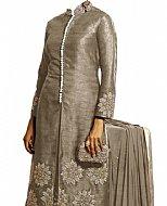 Sand Grey Silk Suit