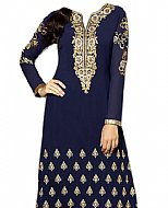 Navy Blue Chiffon Suit- Indian Semi Party Dress