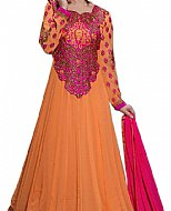 Orange/Pink Chiffon Georgette Suit