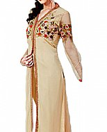 Light Golden Chiffon Suit- Indian Dress