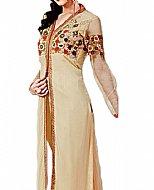 Light Golden Chiffon Suit- Indian Semi Party Dress