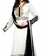 White/Black Georgette Suit- Indian Semi Party Dress