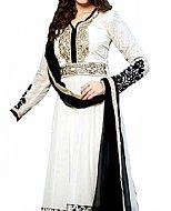 White/Black Georgette Suit