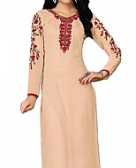Ivory Georgette Suit- Indian Semi Party Dress