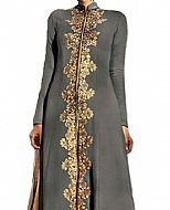 Grey Chiffon Suit- Indian Semi Party Dress