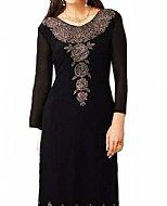 Black Georgette Suit- Indian Semi Party Dress