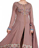 Tea Pink/Blue Georgette Suit