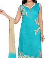 Turquoise Georgette Suit- Indian Semi Party Dress