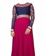 Blue/Magenta Georgette Suit- Indian Dress