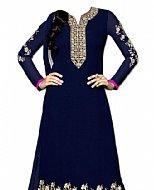 Navy Blue Georgette Suit- Indian Semi Party Dress