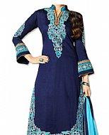 Navy Blue Georgette Suit