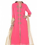 Bright Pink Chiffon Suit- Indian Dress