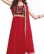 Red Chiffon Suit