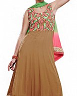 Brown Georgette Suit- Indian Semi Party Dress