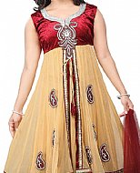 Maroon/Yellow Chiffon Suit- Indian Dress
