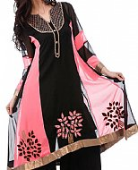 Black/Pink Georgette Suit
