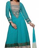 Turquoise Georgette Suit- Pakistani suits