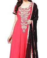 Shocking Pink Georgette Suit