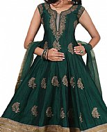 Teal Green Georgette Suit- Indian Semi Party Dress