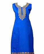Blue Georgette Suit- Indian Semi Party Dress