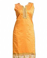 Golden Georgette Suit- Indian Semi Party Dress