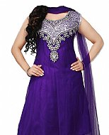 Indigo Net Suit- Indian Semi Party Dress