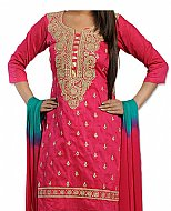 Pink/Turquoise Georgette Suit