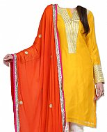 Yellow/Orange Georgette Suit