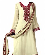 Cream Georgette Suit- Indian Semi Party Dress