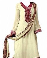 Cream Georgette Suit