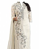 Off-white Georgette Suit- Indian Dress