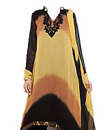 Yellow/Black Chiffon Suit- Indian Dress