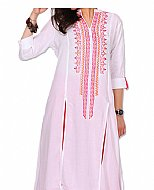 White Georgette Suit- Indian Semi Party Dress