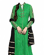 Green/Black Chiffon Suit- Indian Semi Party Dress