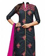 Dark Grey Georgette Suit- Indian Semi Party Dress