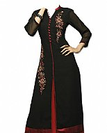 Black/Red Chiffon Suit- Indian Dress