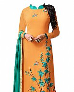 Orange Georgette Suit