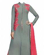 Grey Georgette Suit- Indian Semi Party Dress