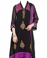 Black/Indigo Chiffon Suit- Indian Dress