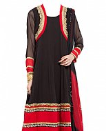 Black/Red Chiffon Suit- Indian Dress