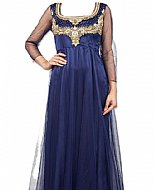 Navy Blue Net Suit- Indian Semi Party Dress
