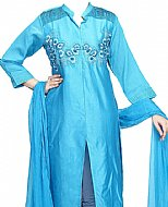 Turquoise Silk Suit- Indian Dress