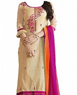 Ivory/Purple Georgette Suit