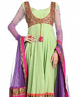 Light Green/Purple Chiffon Suit