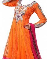Orange/Pink Chiffon Suit- Indian Dress