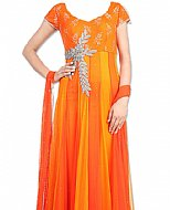 Orange Chiffon Suit