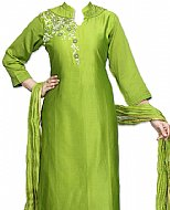 Apple Green Silk Suit- Indian Semi Party Dress