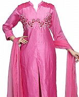 Hot Pink Silk Suit