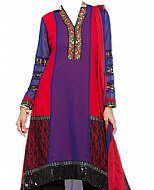 Multicolor Georgette Suit