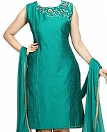 Teal Silk Suit- Indian Dress